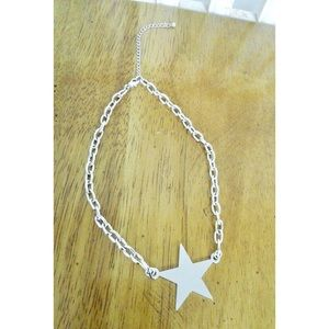 Silver Tone Star Pendant Necklace